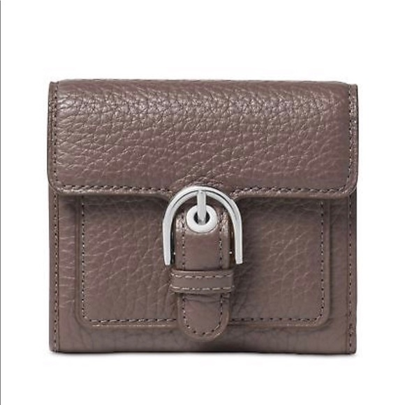 b746c1e932b1 Michael Kors Cooper Carryall Pebbled Cinder Wallet